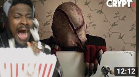 MOVIE NIGHT #1 _ CRYPT TV Scary Short Horror FIlm Reaction _